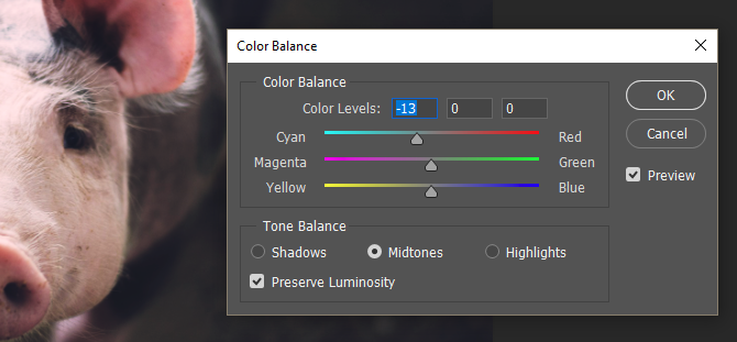 film quality photo color balance