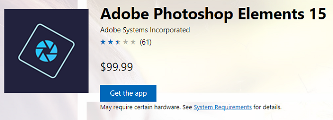adobe photoshop elements windows store apps