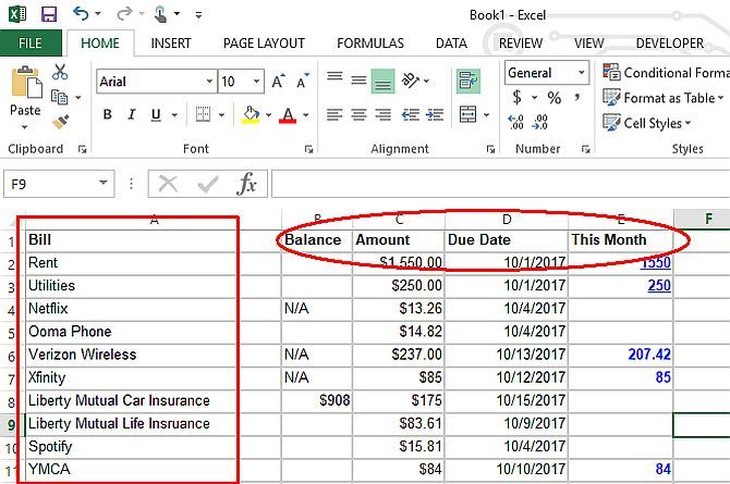 make a personal budget on excel in 4 easy steps excel budget1