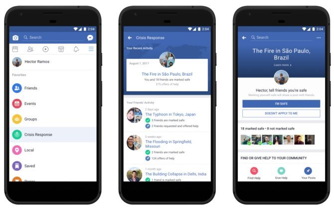 Facebook Launches New Crisis Response Hub to Streamline Help Efforts During Major Disasters facebook crisis centre side by side