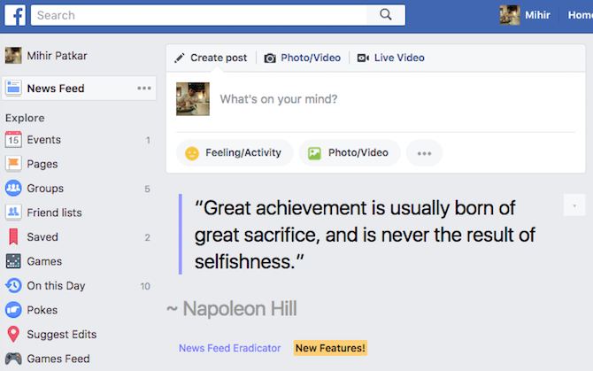 facebook news feed eradicator