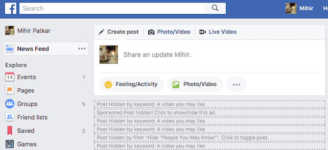facebook news feed hidden posts