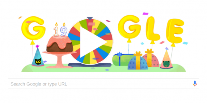 Google Birthday Surprise Spinner Lets You Play Old Games