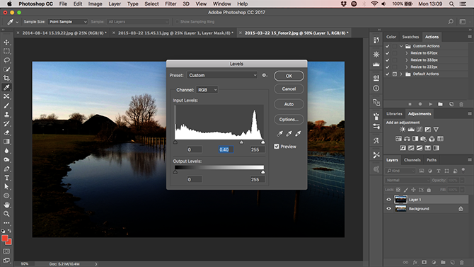 Learn Photo Editing in Photoshop: Get the Basics Down in 1 Hour grad filter levels