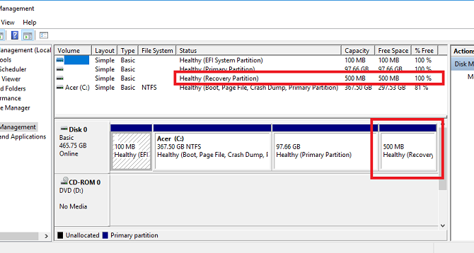 hard disk space windows partitions