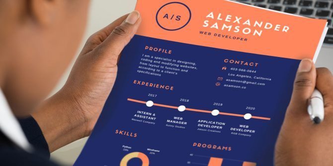 12 Easy, Attractive, and Free Infographic Resume Templates