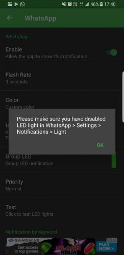 light manager permissions android led notifications