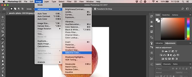 Learn Photo Editing in Photoshop: Get the Basics Down in 1 Hour menubar