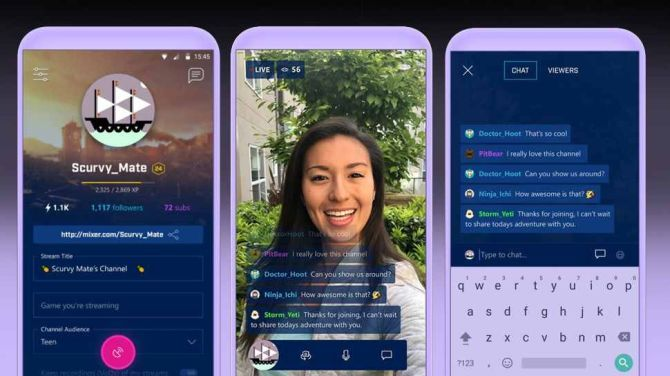 Microsoft Mixer Create App Arrives to Rival Amazon Twitch mixer three screens