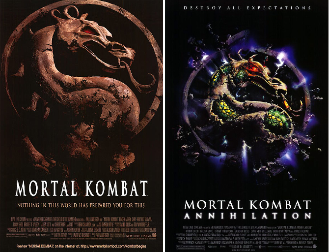 mortal kombat movie posters