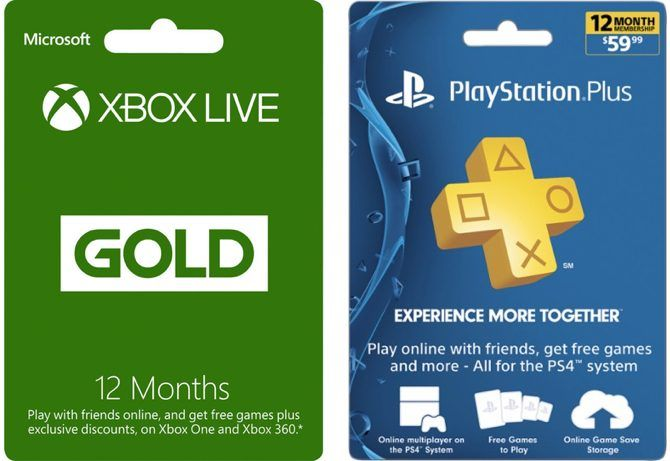 xbox live gold playstation plus