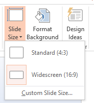 size of powerpoint slide