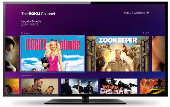 Roku Launches a Brand New Ad-Supported Movie Channel roku channel on screen