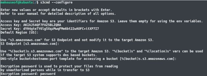 backup amazon s3 linux device