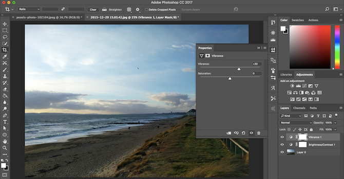 Learn Photo Editing in Photoshop: Get the Basics Down in 1 Hour vibrance