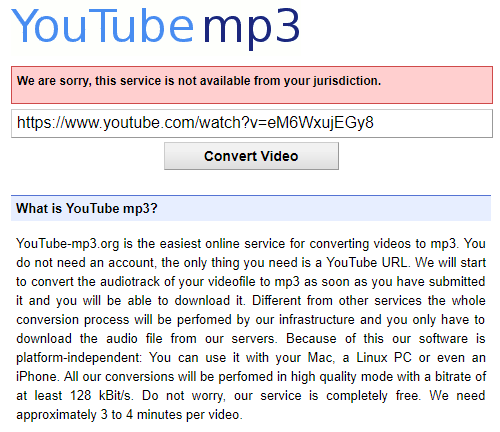 Riaa finally shuts down popular youtube to mp3 converter riaa finally shuts down popular youtube to mp3 converter youtube mp3 conversion site message stopboris Image collections