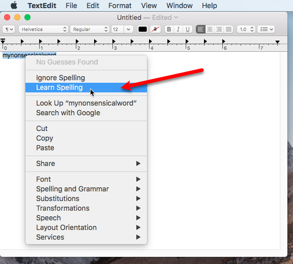 add remove words from mac built-in dictionary