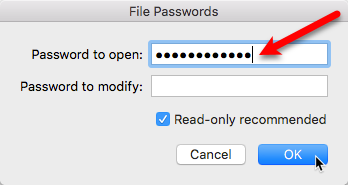 password protect files folder mac