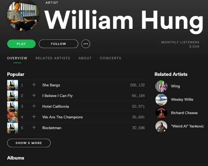 Spotify Music Streaming: The Unofficial Guide 26 Spotify Artist Page