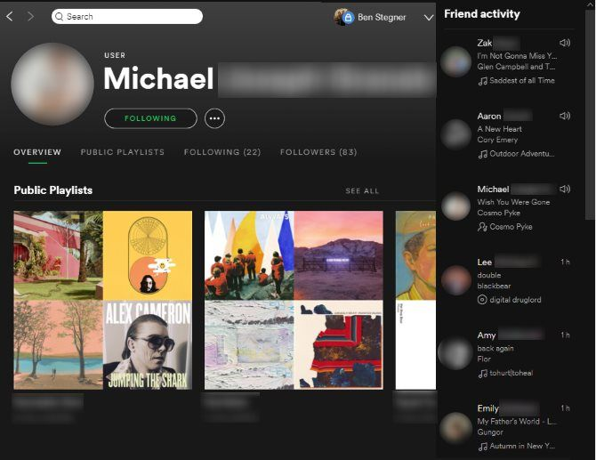 Spotify Music Streaming: The Unofficial Guide 27 Spotify Friend Page Friend Activity