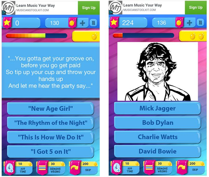 music trivia mobile games