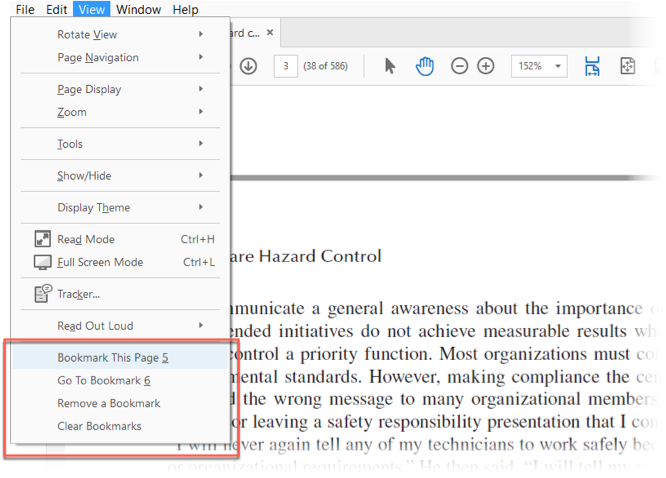 How to bookmark a page in a pdf document in adobe reader bookmark this page fandeluxe Gallery