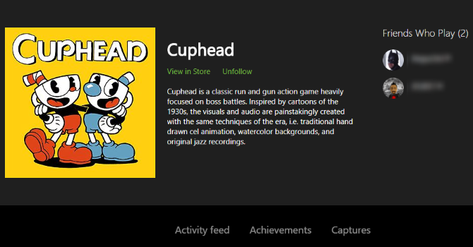 How to View a List of Every Xbox Game You Own Cuphead Xbox Game Page