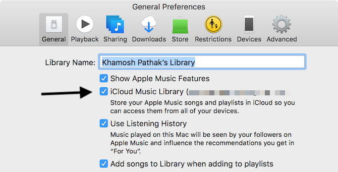 Enable iCloud Music Library on Mac