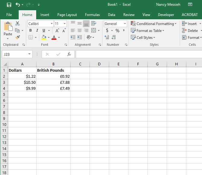 How to Use Different Currency Symbols in Specific Cells in Excel Excel Currency 4