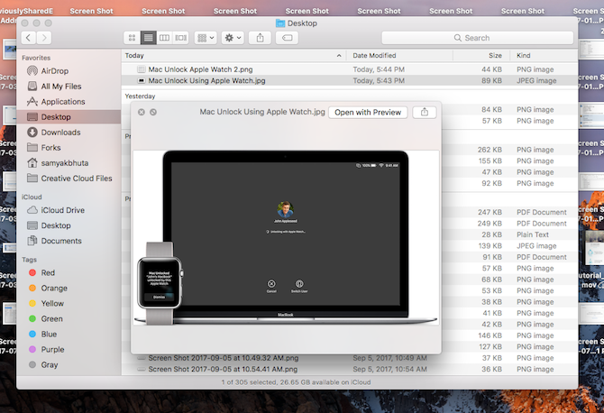 Mac Preview in Finder