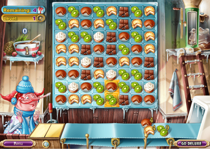 free browser match-three games pastry passion online