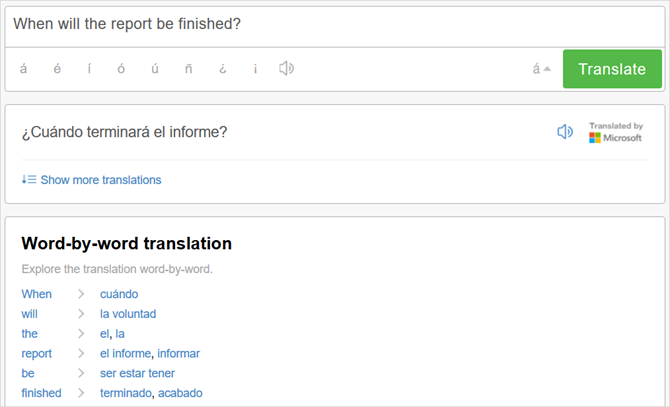 best online translators spanish dict