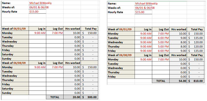 Need a timesheet template to track your hours here are 12 for Template to calculate hours worked