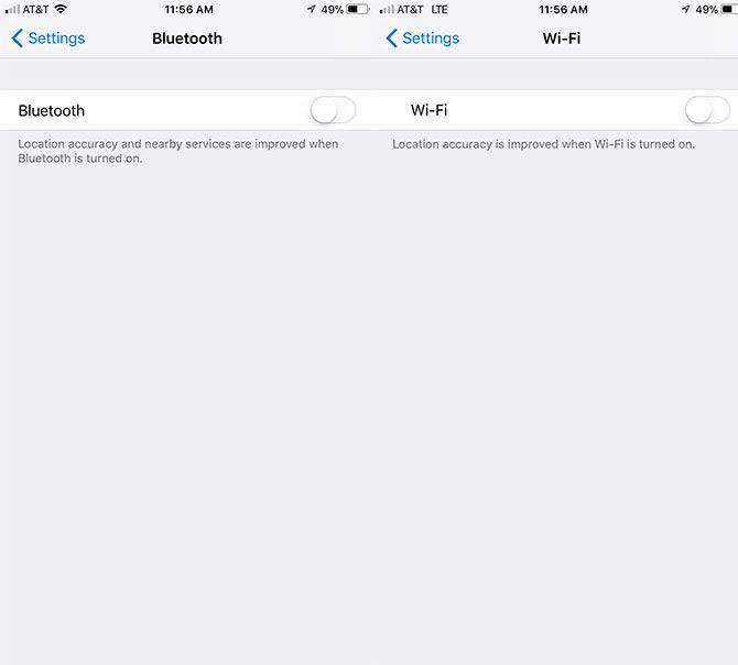 How to Really Turn Off Wi-Fi and Bluetooth in iOS 11 WiFi Bluetooth