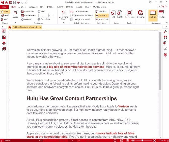 Is A Free Pdf Editor Good Enough Adobe Acrobat Pro Dc Vs Pdfescape