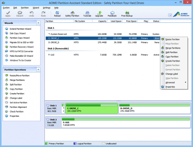 best partition managers windows aomei