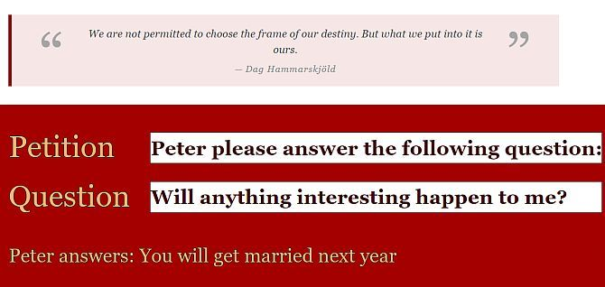 ask peter personal questions