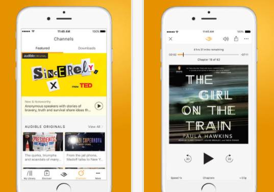 best audiobook app audible