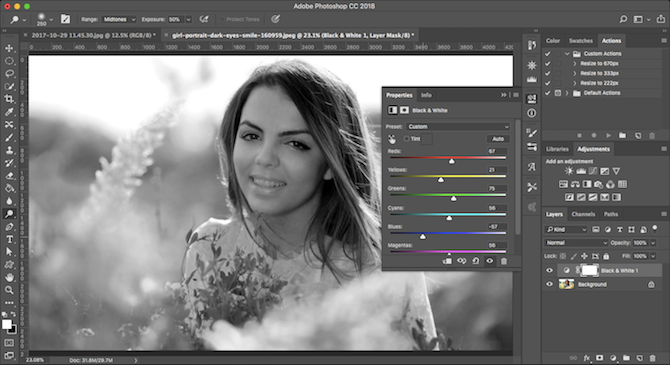 Learn Photo Editing in Photoshop: Get the Basics Down in 1 Hour bandw