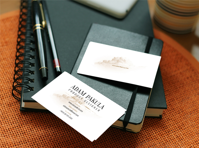 design business card illustrator mockup example