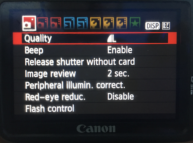 A Beginner's Guide To Digital Photography canon menu