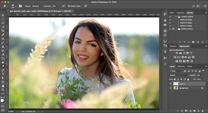 Learn Photo Editing in Photoshop: Get the Basics Down in 1 Hour eyes