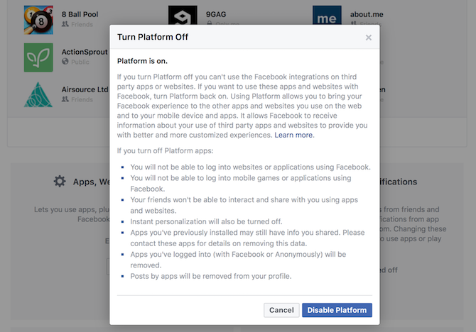 The Complete Facebook Privacy Guide facbeook privacy app platform