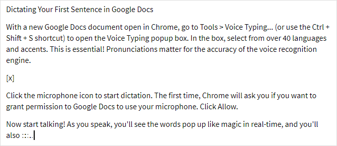 Google Doc's Voice Typing: A Secret Weapon for Productivity google docs voice typing example