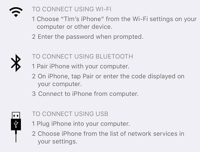 ios 11 tethering personal hotspot errors