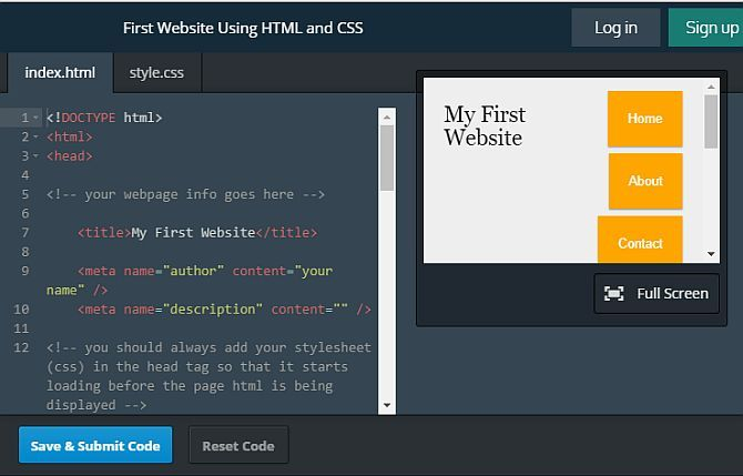 8 Best Websites For Quality HTML Coding Examples html coding7