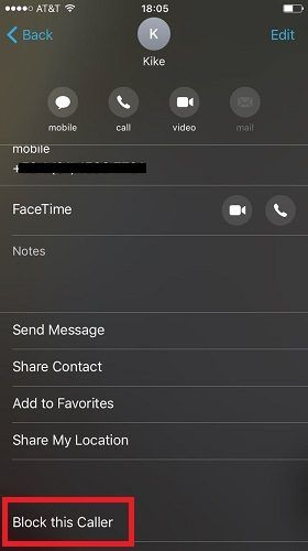 How to Block a Phone Number on iOS ios block number facetime 280x500