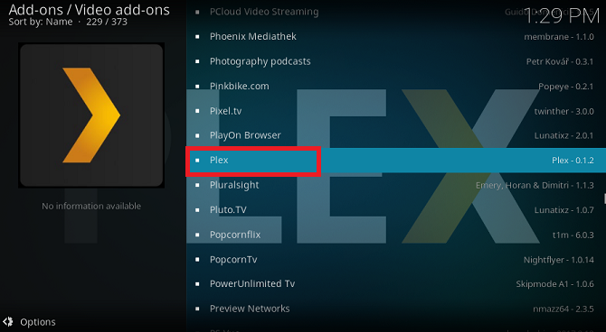 kodi plex addon download