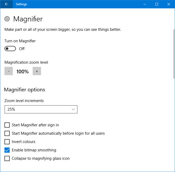 9 New Settings Features in the Windows 10 Fall Creators Update magnifier