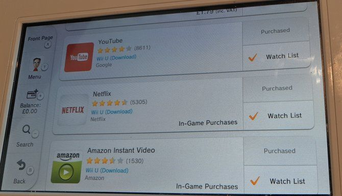 ways to watch tv on ninteno wii u